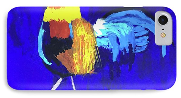 IPhone Case featuring the painting Rooster by Donald J Ryker III