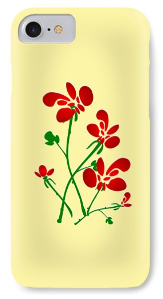 Rooster Flowers IPhone Case by Anastasiya Malakhova
