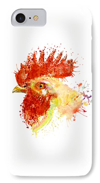 Rooster Head IPhone Case by Marian Voicu
