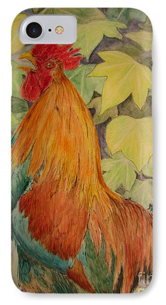 IPhone Case featuring the painting Rooster by Laurianna Taylor
