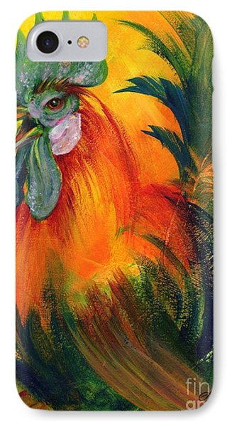 Rooster Of Another Color Phone Case by Summer Celeste