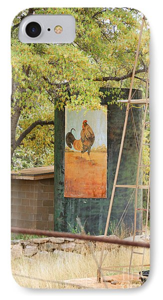 IPhone Case featuring the photograph Rooster Water Tank by Donna Greene