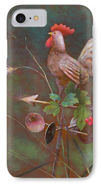 IPhone Case featuring the painting Rooster Weather Vane In Square Format by Nancy Lee Moran