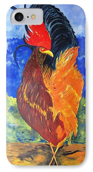 IPhone Case featuring the painting Rooster With Attitude by Gary Smith
