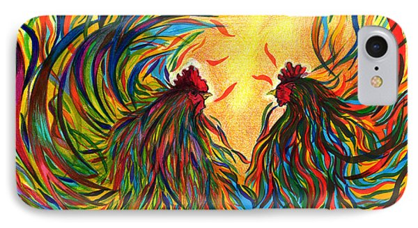 Roosters Frienship IPhone Case by Fanny Diaz
