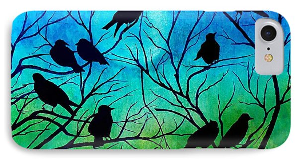 IPhone Case featuring the painting Roosting Birds by Susan DeLain