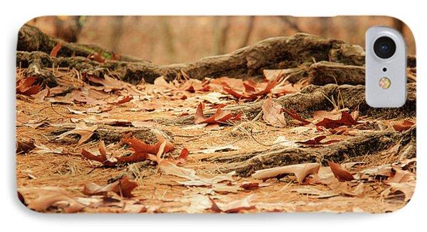 Roots Along The Path IPhone Case by Joni Eskridge