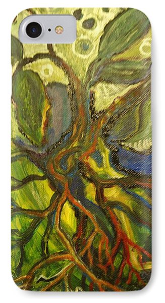 Roots And Tendrils Of Living IPhone Case by Susan Brown    Slizys art signature name