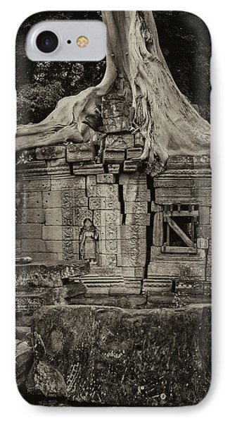 IPhone 7 Case featuring the photograph Roots In Ruins 5, Ta Prohm, 2014 by Hitendra SINKAR