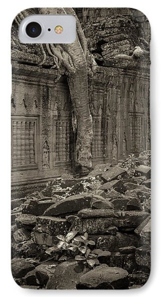 IPhone 7 Case featuring the photograph Roots In Ruins 6, Ta Prohm, 2014 by Hitendra SINKAR