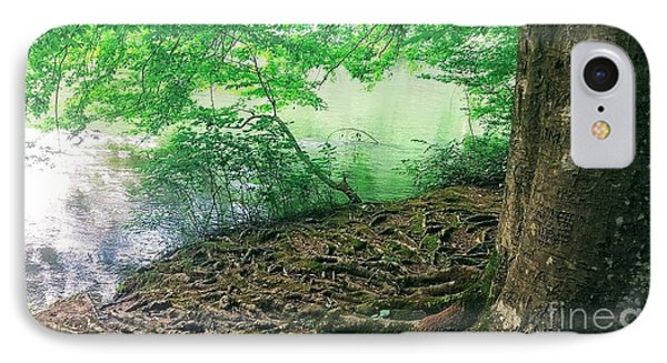 Roots On The River IPhone Case by Rachel Hannah