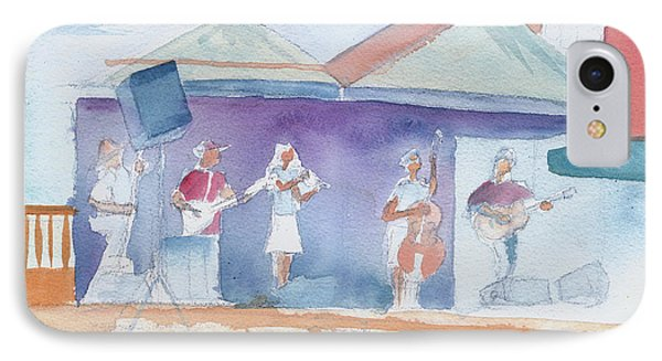 IPhone Case featuring the painting Roots Retreat Bluegrass by David Sockrider