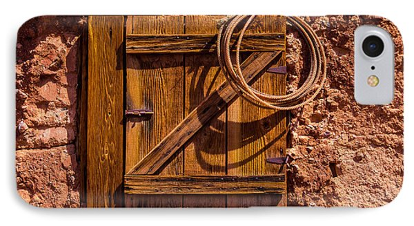 Rope Hanging On Small Door IPhone Case by Garry Gay