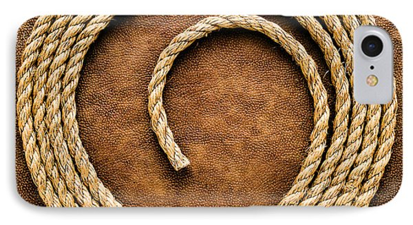 Rope On Leather IPhone Case by Olivier Le Queinec