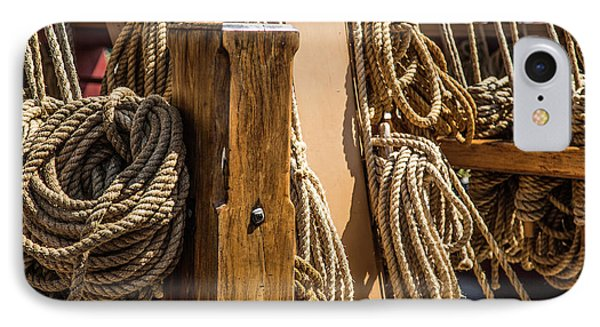Ropes Aboard A Tall Ship IPhone Case by Dale Kincaid