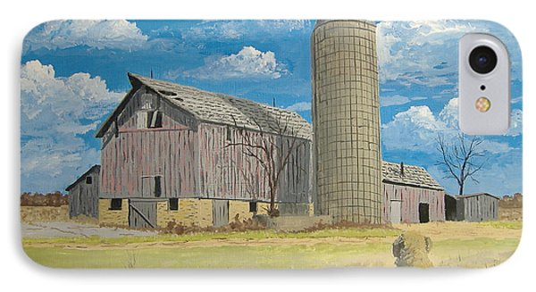 IPhone Case featuring the painting Rorabeck Barn by Norm Starks