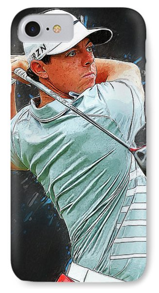 Rory Mcilroy IPhone Case by Semih Yurdabak