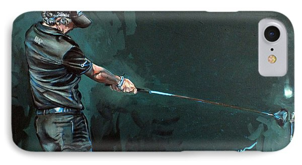Rory Mcilroy Trick Shot 2010 Phone Case by Mark Robinson