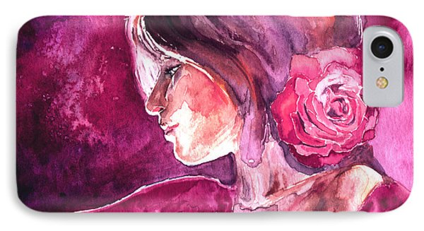 IPhone Case featuring the painting Rosa by Ragen Mendenhall
