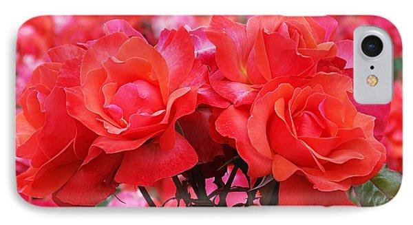 Rose Abundance Phone Case by Rona Black