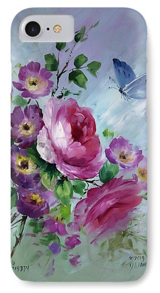 Rose And Butterfly Phone Case by David Jansen