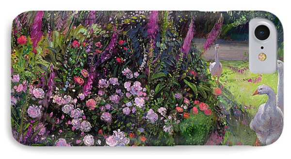 Rose Bed And Geese IPhone 7 Case by Timothy Easton