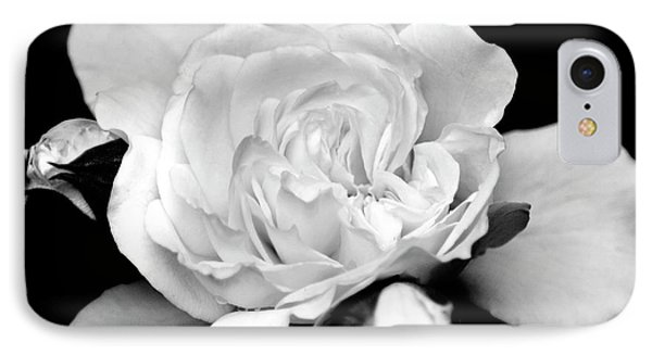 IPhone 7 Case featuring the photograph Rose Black And White by Christina Rollo