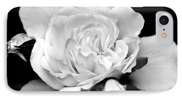 IPhone Case featuring the photograph Rose Black And White by Christina Rollo