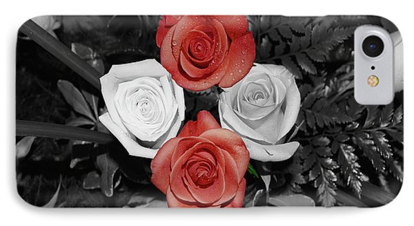 Rose Bouquet Phone Case by DigiArt Diaries by Vicky B Fuller