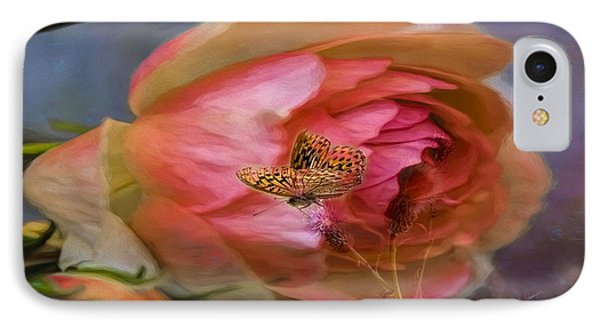Rose Buttefly IPhone Case
