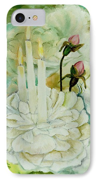 Rose Candles IPhone Case by Miriam Leah