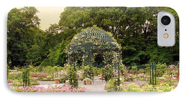 Rose Garden Gazebo IPhone Case by Jessica Jenney