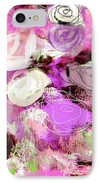 Rose Garden Promise- Art By Linda Woods IPhone Case