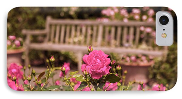Rose Garden Rest IPhone Case by Jessica Jenney