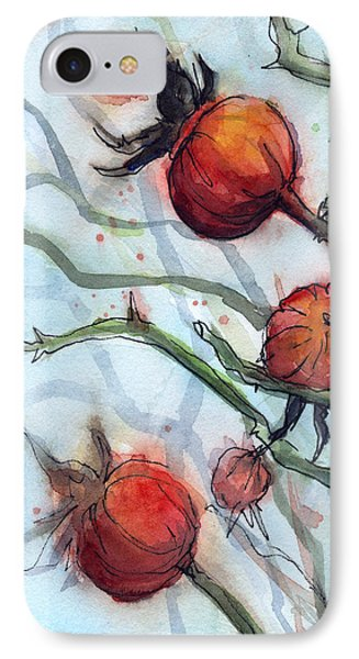 Rose Hips Abstract  IPhone Case