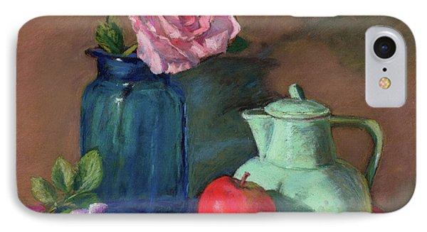 Rose In Blue Jar IPhone Case