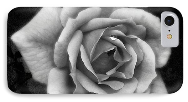 Rose In Mono. #flower #flowers IPhone Case by John Edwards