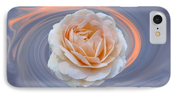 IPhone Case featuring the photograph Rose In Swirl by Helen Haw
