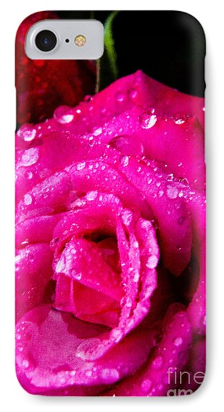 Rose In The Rain Phone Case by Thomas R Fletcher