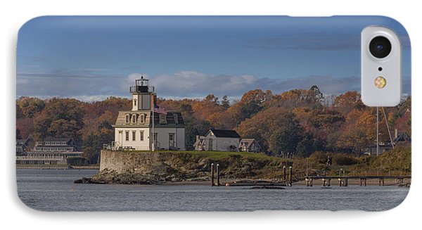 Rose Island Lighthouse  IPhone Case by Capt Gerry Hare
