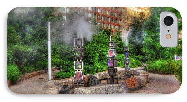 Rose Kennedy Greenway Steam Sculpture Garden - Boston IPhone Case