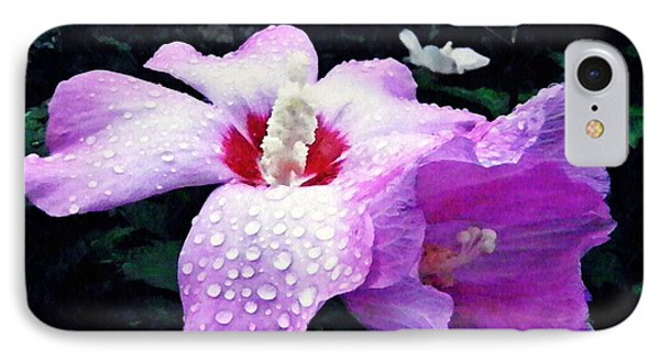 Rose Mallow After The Rain IPhone Case