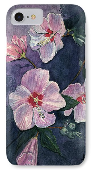 IPhone Case featuring the painting Rose Of Sharon by Katherine Miller