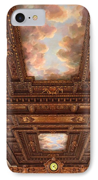 IPhone Case featuring the photograph Rose Reading Room Ceiling by Jessica Jenney