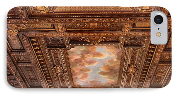 IPhone Case featuring the photograph Rose Room Ceiling by Jessica Jenney