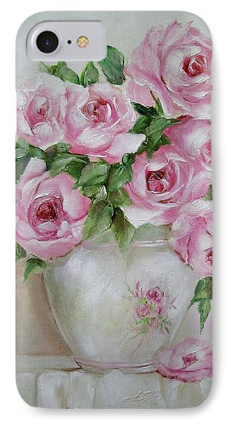 IPhone Case featuring the painting Rose Vase by Chris Hobel