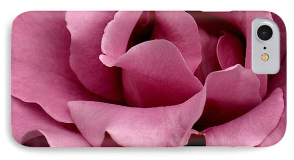 Rose Violet Waves IPhone Case by Barbara Middleton