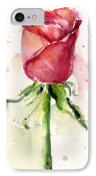 Rose Watercolor IPhone Case by Olga Shvartsur