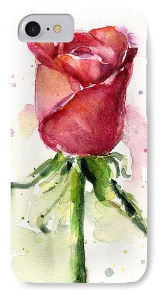 Rose Watercolor IPhone 7 Case