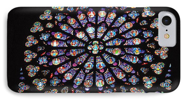 Rose Window Of Notre Dame Paris IPhone Case by Jacqueline M Lewis